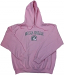 Women's Hoodie - Pink with Grey/White Embroidery
