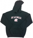 Women's Hoodie - Charcoal Grey with Pink Embroidery